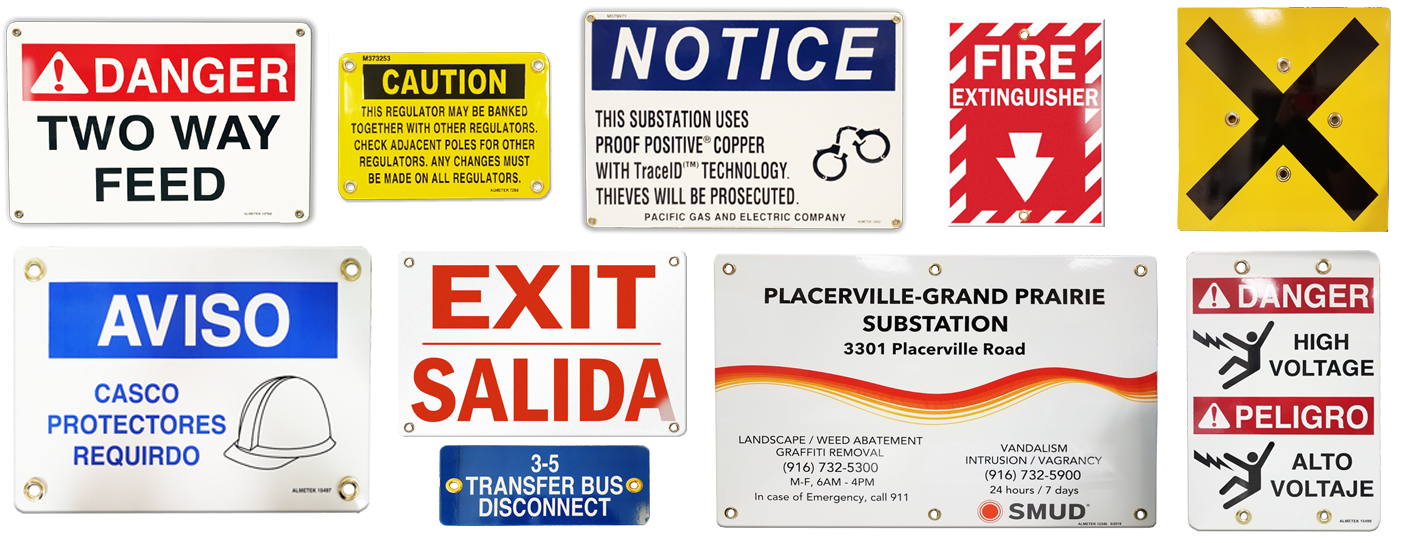 Porcelain Safety Signs
